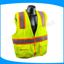china v shape safety vest with 120gsm mesh fabric