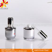 Botella del cuentagotas de la crema del acrílico de la forma oval 30ml