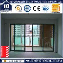 Алюминиевый балкон с двойным остеклением Раздвижная дверь с оборудованием Германии