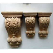 Decorative Acanthus Leaves Wood Corbel and Bracket