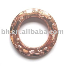 2012 classical crystal and medal curtain rings Classic Design Iron Shower eyelet Curtain Ring