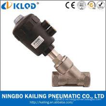 Válvula de retención de ángulo del cuerpo de acero inoxidable de 2/2 vías KLJZF-20
