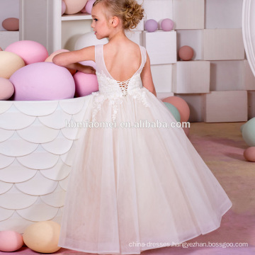 Little Girl Party Wear Western Party Princess Dress Sleeveless Backless Baby Girl Birthday Dress for Girl of 7 Year Old