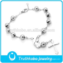 Wholesale Religious Rosary Bracelet for Catholic Stainless Steel Prayer Our Lady of Guadalupe Cross Bead Bracelet for Catholic