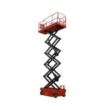 Elevador de ventanas hidráulico de gran altura. Elevador de tijera elevador de tijera eléctrico automotor.
