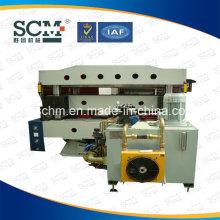Machine de découpe hydraulique pour rouleaux de caoutchouc