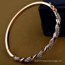 Amazing jewelry in dubai infinity bangle bracelets rose gold fake diamond crystal bracelet