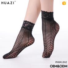 Nova moda elegante design por atacado suas próprias meias