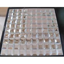 Mosaïque en verre miroir de diamant en argent (HD043A)