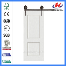 JHK-017 Panel Design Door Internal Wooden White  Barn Door
