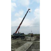 Guindaste de lança telescópica para construção