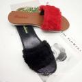 Fashionable fancy ladies sexy woman in sandals woman fur slide women slippers