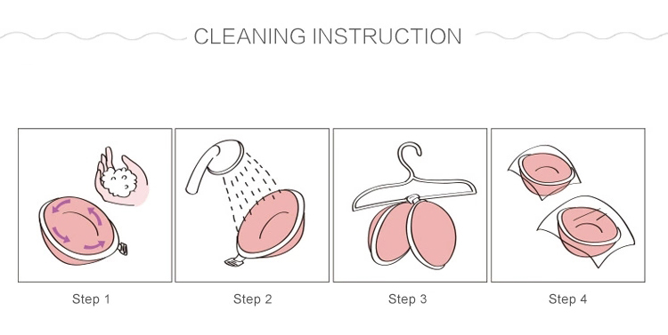 Strapless bra cleaning instruction