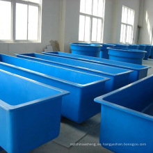 Tanques de peces de acuacultura de fibra de vidrio de FRP Tanques de peces de acuacultura coloridos de alta resistencia comercial