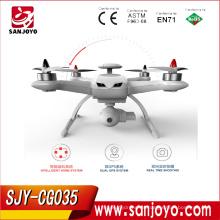 Sígueme RC Drone GPS CG035 2.4G Motor sin escobillas Altitude Hold sin cabeza en modo UFO Drone Quadcopter con GPS doble SJY-CG035