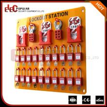 Elecpopular Dispositivos de seguridad de venta caliente Material de vidrio orgánico 20 candados Estación de bloqueo
