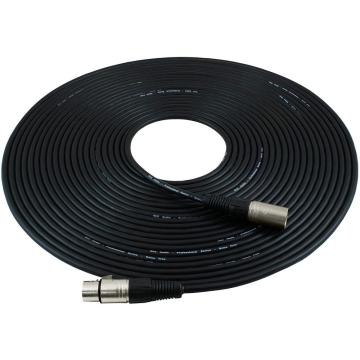 Microphone extension cable black nickel plated connector