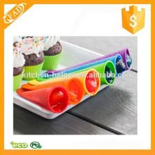 O molde prático o mais novo do popsicle do silicone do alimento