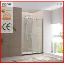 Framing stainless steel double sliding simple shower door