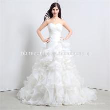 Kristall wulstige Hochzeitskleid tiefe V-Ausschnitt Stock Länge sexy Spitze Hochzeitskleid Muster