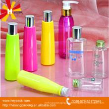 Garrafa plástica vazia cosmética transparente de 250ml