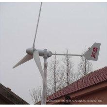 CE direto unidade baixa velocidade baixa partida binário ímã permanente gerador 1KW Eixo Horizontal ímã permanente da turbina de vento