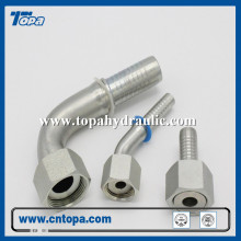Swivel hose hydraulic barb pressure steel fittings
