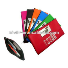 Soft zipper bag silicone calculator
