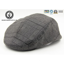 Herringbone Tweed Blend Snap Front Newsboy High Quality IVY Cap Gatsby Hat