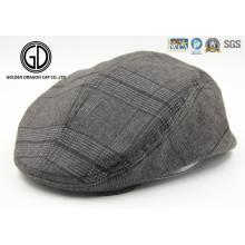 Herringbone Tweed Blend Snap Front Newsboy High Quality IVY Cap Gatsby Hat