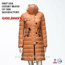 Европейский дизайн раскрытый утка вниз заполняя женские зимние пальто 2017