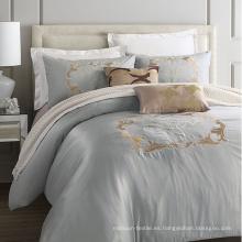 Apartment Hotel - Juego de cama bordado de lujo, 100% algodón