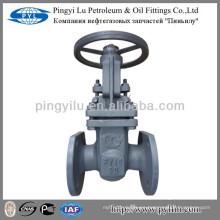 Acero al carbono de tubería estándar ruso de montaje de vástago pn16 válvula de salida fabricante