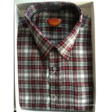 Camisa de negocios de tejido de franela de algodón