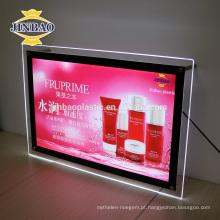 Jinbao alta qualidade super fino LED sinal acrílico caixa de luz personalizar tamanho