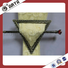 silvery triangle embedded drill curtain buckle