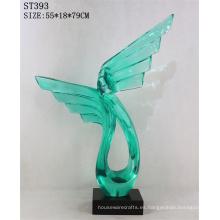 La resina colorida interior de encargo de moda artesana la escultura del recuerdo