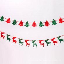 Reindeer Hanging Felt Decorations / Felt Xmas Tree Hanging Ornament