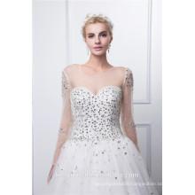 Beading sleeve bodice accept paypal tule wedding dress
