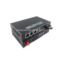 Новый оптический приемник SC 10/100 / 1000M с лучшей ценой 2016 года, оптоволоконный преобразователь для сети PLC