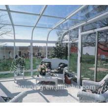 Feste Polycarbonat-Tafel-Treibhaus-Dachmaterialien am besten Polycarbonat Preis
