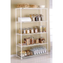 Assembly Adjustable Chrome Wire Shelving Rack From Metal Furniture (LD9035180A5E)