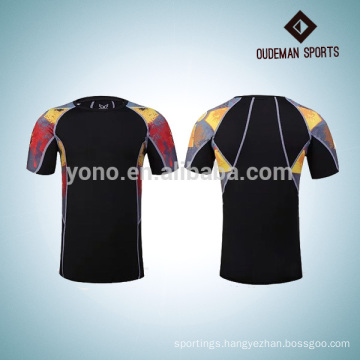 2017 new design sports blank compression shirts for young men