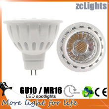 Spot LED GU10 MR16 COB 6W Spotlight Lâmpada LED (MR16-A6)