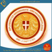 Custom Souvenir / Werbeartikel Gold überzogene Münze