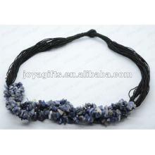Sodalite Chip Gemstone Necklace