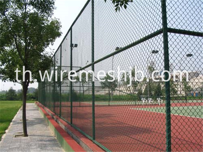 Green Color Chain Link Fence