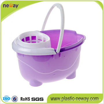 Squeeze Plastic Mop Bucket Wringer com Rodas