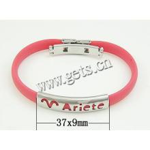 Gets.com silicone âmbar prata esterlina dom pulseira