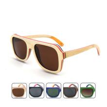 FQ marque en gros Chine polarisée à la mode personnalisé homme lunettes de soleil en bois